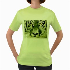 The Eye Of The Tiger Women s Green T Shirt