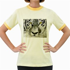The Eye Of The Tiger Women s Fitted Ringer T-Shirts