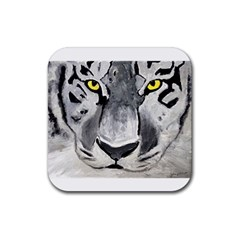 The Eye Of The Tiger Rubber Square Coaster (4 Pack)