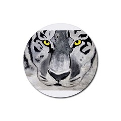 The Eye Of The Tiger Rubber Round Coaster (4 Pack)