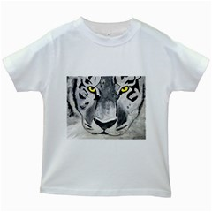 The Eye Of The Tiger Kids White T Shirts