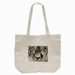 The Eye Of The Tiger Tote Bag (Cream)