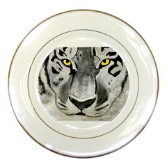The Eye Of The Tiger Porcelain Plates