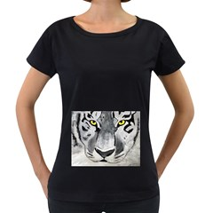 The Eye Of The Tiger Women s Loose-Fit T-Shirt (Black)