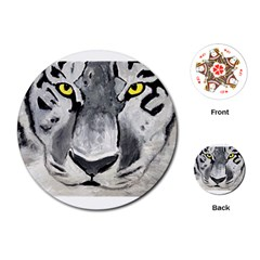 The Eye Of The Tiger Playing Cards (round)
