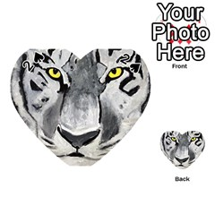 The Eye Of The Tiger Playing Cards 54 (Heart)