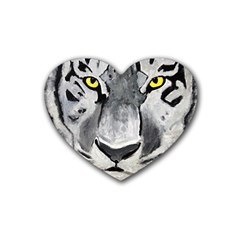 The Eye Of The Tiger Heart Coaster (4 Pack)