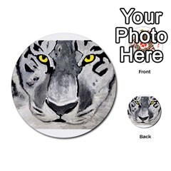 The Eye Of The Tiger Multi Purpose Cards (round)
