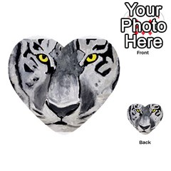 The Eye Of The Tiger Multi-purpose Cards (Heart)