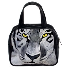 The Eye Of The Tiger Classic Handbags (2 Sides)