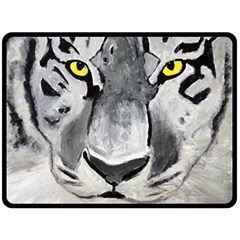 The Eye Of The Tiger Fleece Blanket (large)