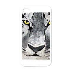 The Eye Of The Tiger Apple Iphone 4 Case (white)