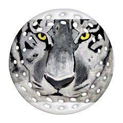The Eye Of The Tiger Round Filigree Ornament (2side)