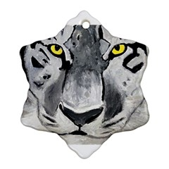 The Eye Of The Tiger Snowflake Ornament (2-Side)