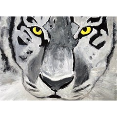 The Eye Of The Tiger Birthday Cake 3D Greeting Card (7x5)