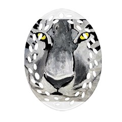 The Eye Of The Tiger Oval Filigree Ornament (2 Side)