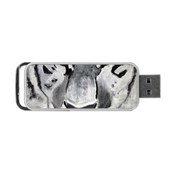 The Eye Of The Tiger Portable USB Flash (Two Sides)