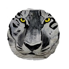 The Eye Of The Tiger Standard 15  Premium Round Cushions