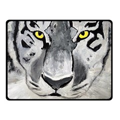 The Eye Of The Tiger Double Sided Fleece Blanket (Small)