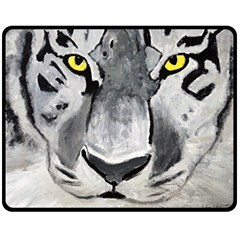 The Eye Of The Tiger Double Sided Fleece Blanket (Medium)