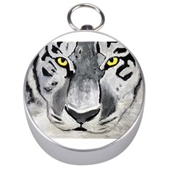 The Eye Of The Tiger Silver Compasses