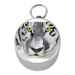 The Eye Of The Tiger Mini Silver Compasses