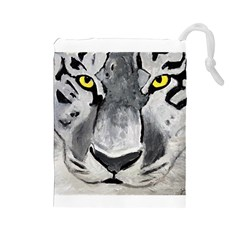 The Eye Of The Tiger Drawstring Pouches (Large)