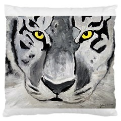 The Eye Of The Tiger Large Flano Cushion Cases (One Side)