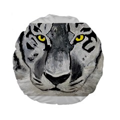 The Eye Of The Tiger Standard 15  Premium Flano Round Cushions