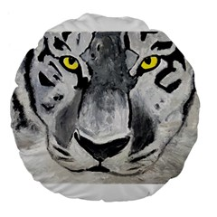 The Eye Of The Tiger Large 18  Premium Flano Round Cushions