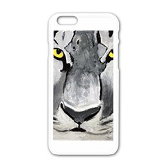 The Eye Of The Tiger Apple iPhone 6 White Enamel Case