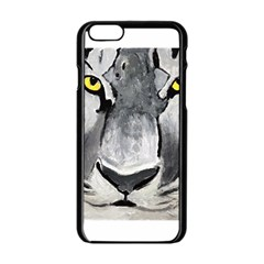 The Eye Of The Tiger Apple iPhone 6 Black Enamel Case