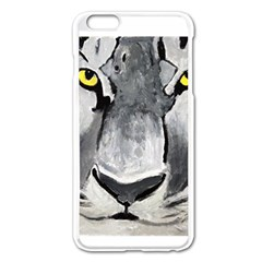 The Eye Of The Tiger Apple Iphone 6 Plus Enamel White Case