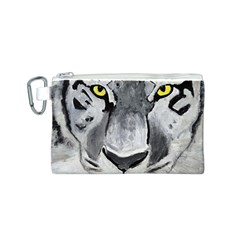 The Eye Of The Tiger Canvas Cosmetic Bag (S)