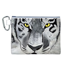 The Eye Of The Tiger Canvas Cosmetic Bag (L)