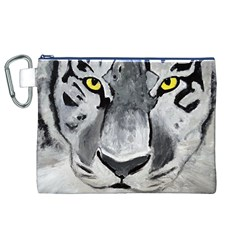 The Eye Of The Tiger Canvas Cosmetic Bag (xl)