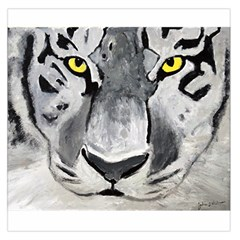 The Eye Of The Tiger Large Satin Scarf (Square)