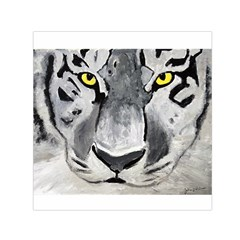 The Eye Of The Tiger Small Satin Scarf (Square)