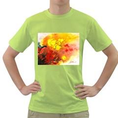 Fire, Lava Rock Green T-Shirt