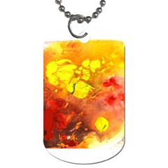 Fire, Lava Rock Dog Tag (one Side)