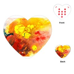 Fire, Lava Rock Playing Cards (Heart)