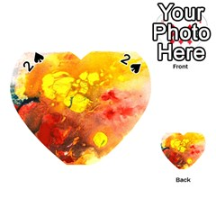 Fire, Lava Rock Playing Cards 54 (heart)