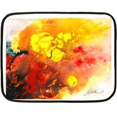 Fire, Lava Rock Fleece Blanket (Mini)