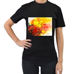 Fire, Lava Rock Women s T Shirt (black)