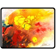Fire, Lava Rock Fleece Blanket (Large)
