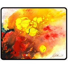 Fire, Lava Rock Fleece Blanket (Medium)