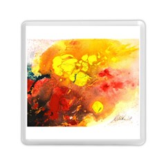 Fire, Lava Rock Memory Card Reader (Square)