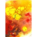 Fire, Lava Rock Apple 3D Greeting Card (7x5)  Inside