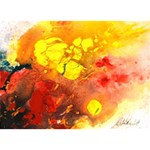 Fire, Lava Rock Apple 3D Greeting Card (7x5)  Back