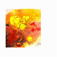 Fire, Lava Rock Large Garden Flag (two Sides)